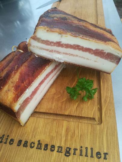 die Sachsengriller Grill Rezept Bacon Bauchspeck