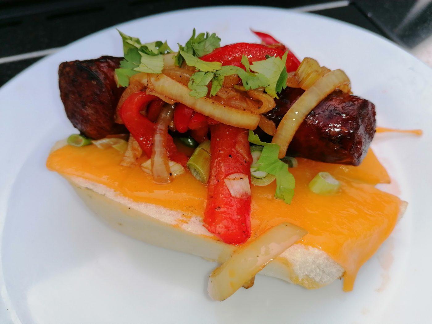 die Sachsengriller Grill Rezept Chorizo Sandwich