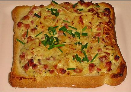 die Sachsengriller Grill Rezept Flammkuchen Toast