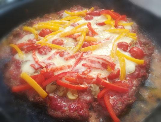 die Sachsengriller Grill Rezept Hackfleisch Pizza