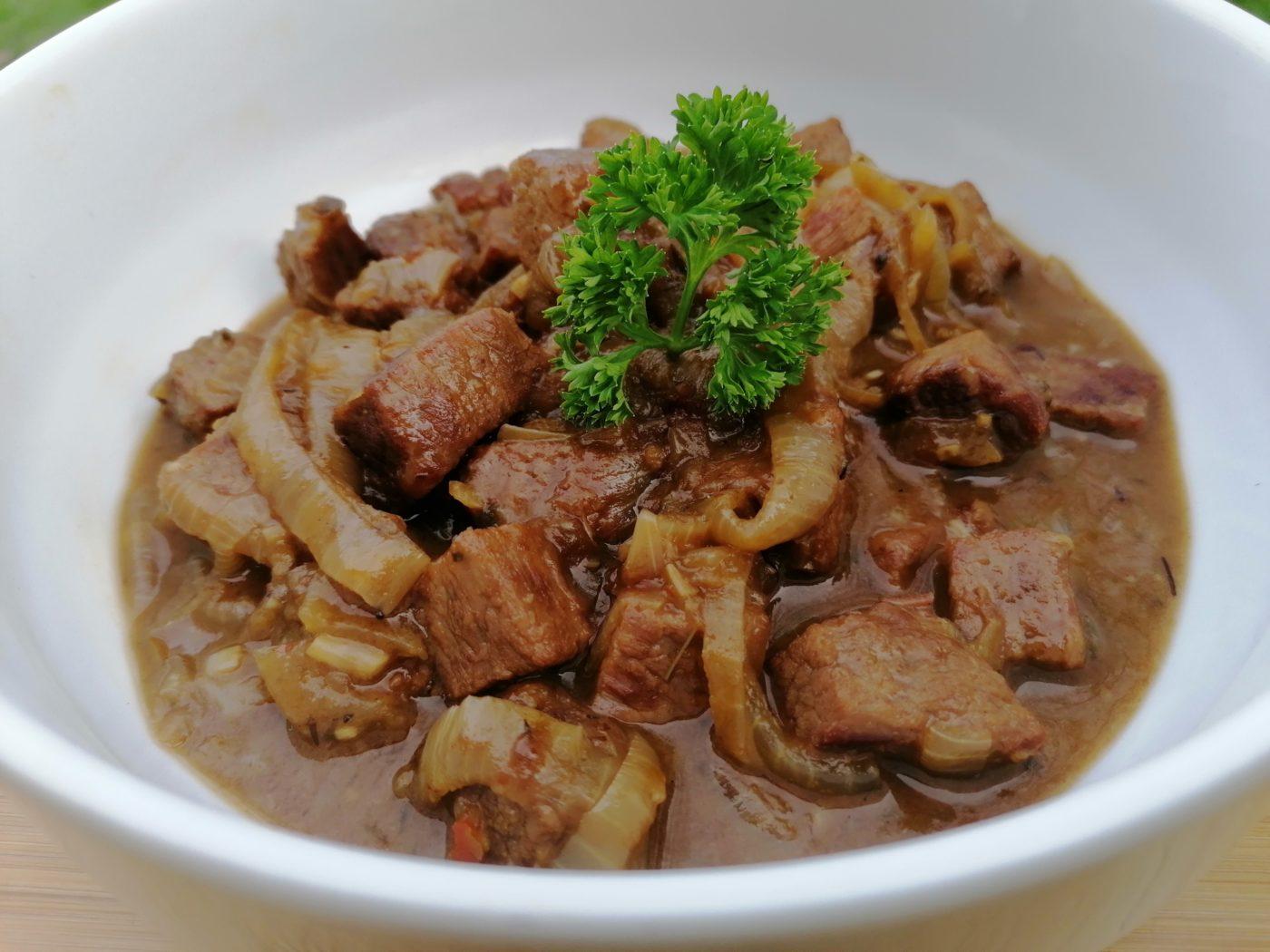 die Sachsengriller Grill Rezept Rindfleisch Topf mit Schwarzbier