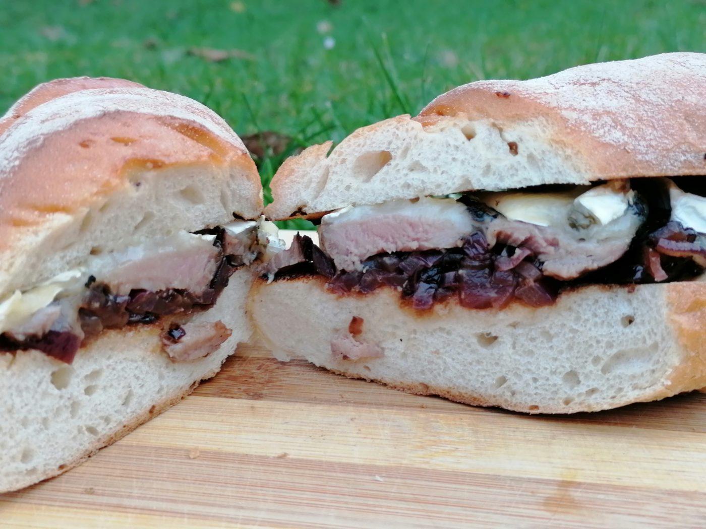 die Sachsengriller Grill Rezept Wildschwein Sandwich