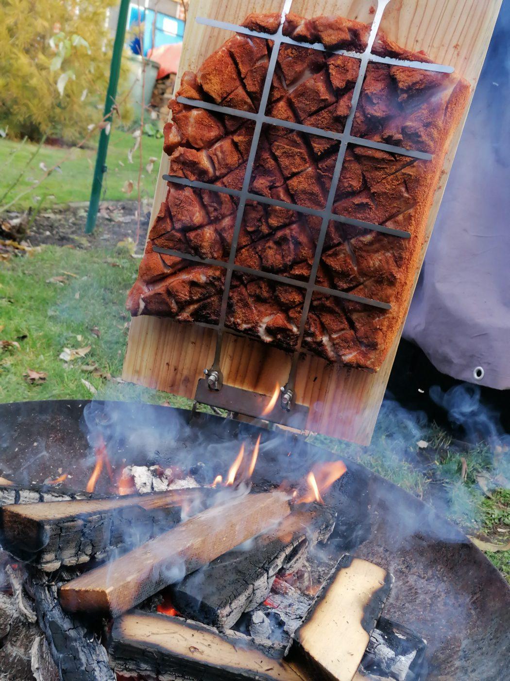 die Sachsengriller Grill Rezept Schweinebauch Asado