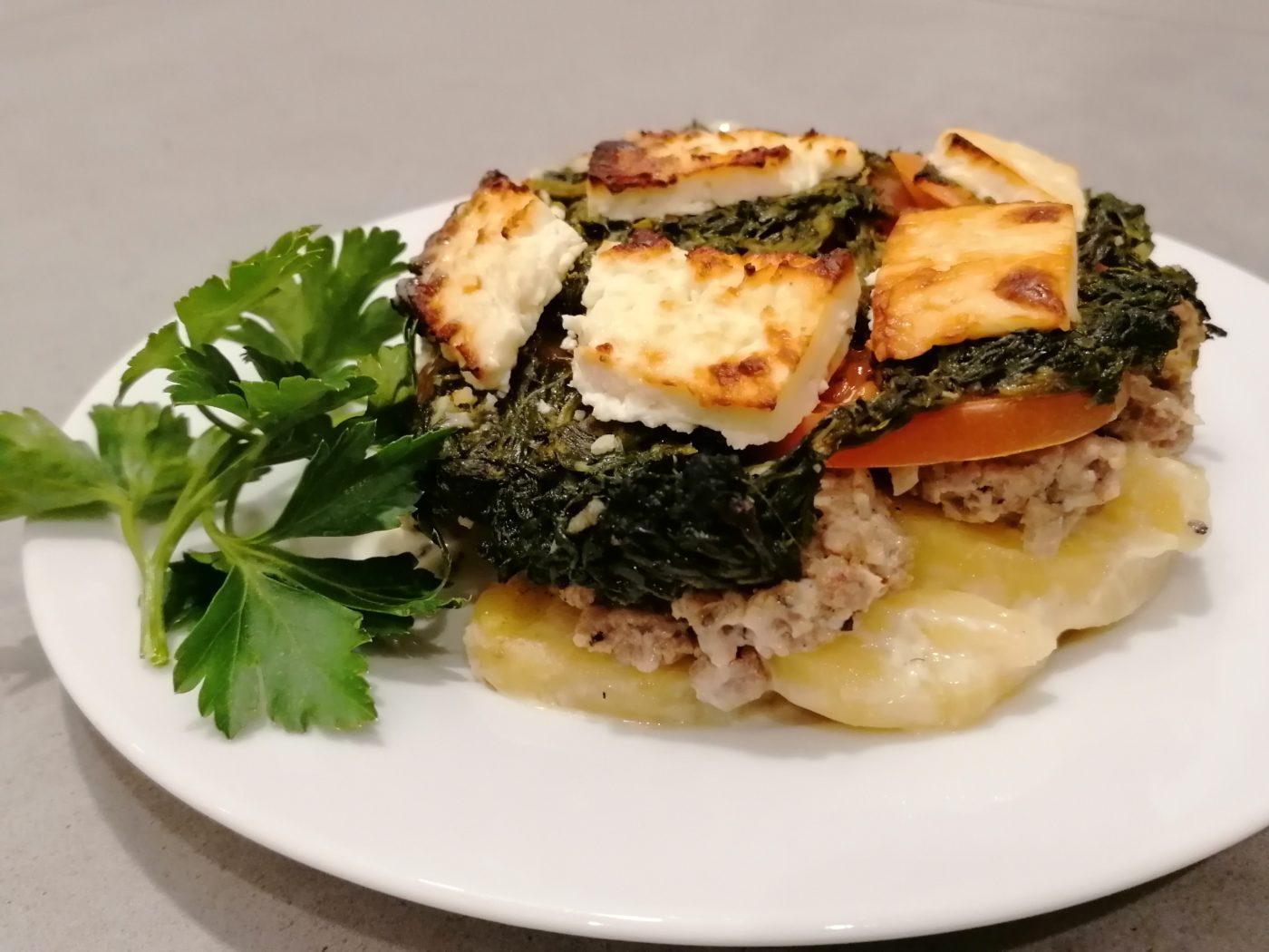 die Sachsengriller Grill Rezept Hackauflauf mit Spinat