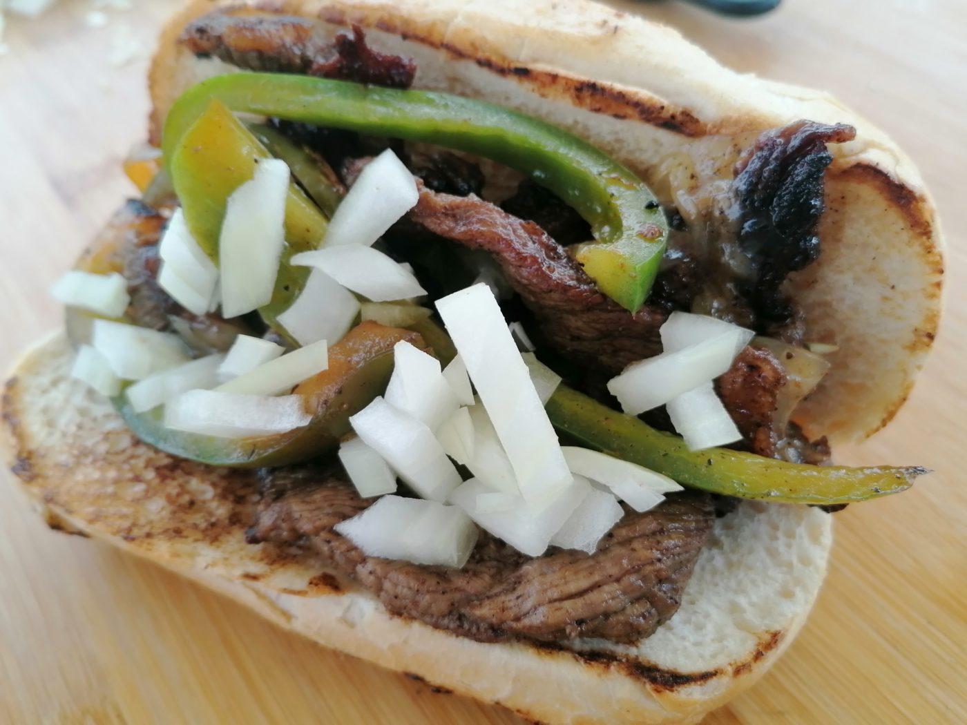 die Sachsengriller Grill Rezept Philly Cheese Steak Sandwich