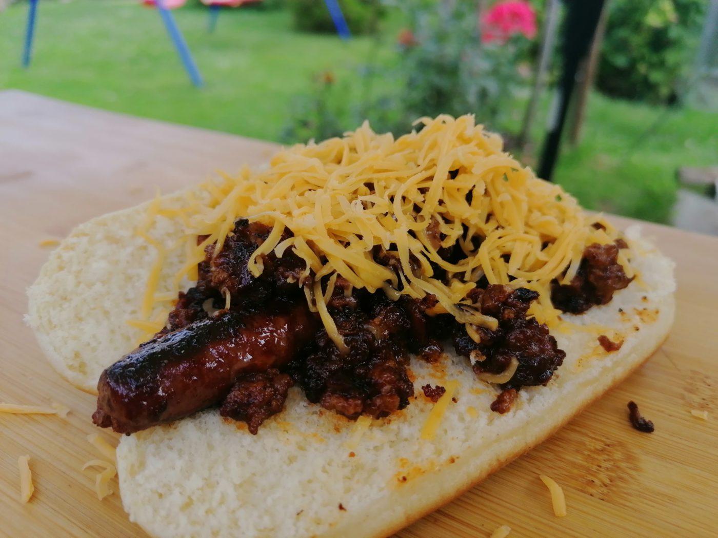 die Sachsengriller Grill Rezept Chili Hot Dog