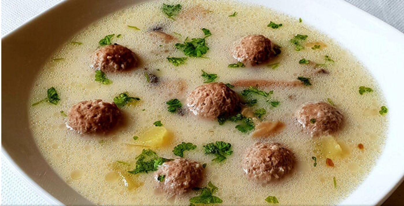 die Sachsengriller Grill Rezept Käsesuppe mit Majoranklößchen