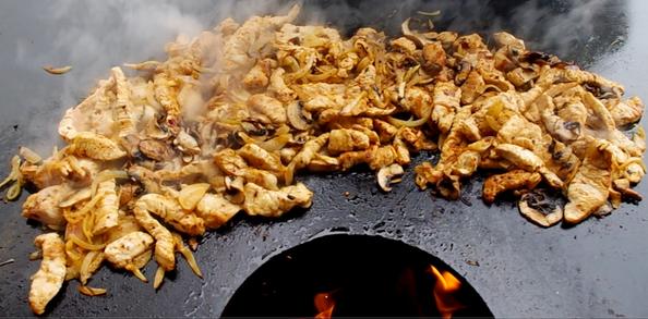 die Sachsengriller Grill Rezept Putengeschnetzeltes