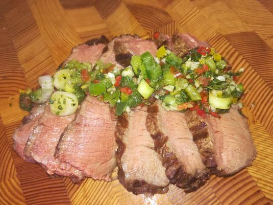 die Sachsengriller Grill Rezept Porterhouse Steak mit Salsa