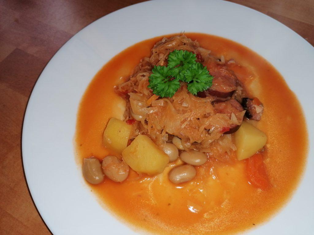 die Sachsengriller Grill Rezept scharfe Sauerkrautsuppe