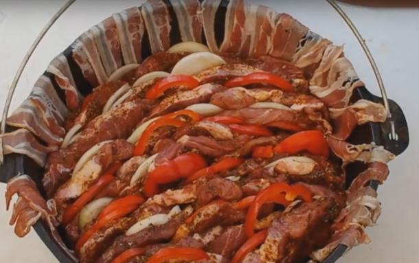 die Sachsengriller Grill Rezept Schichtfleisch