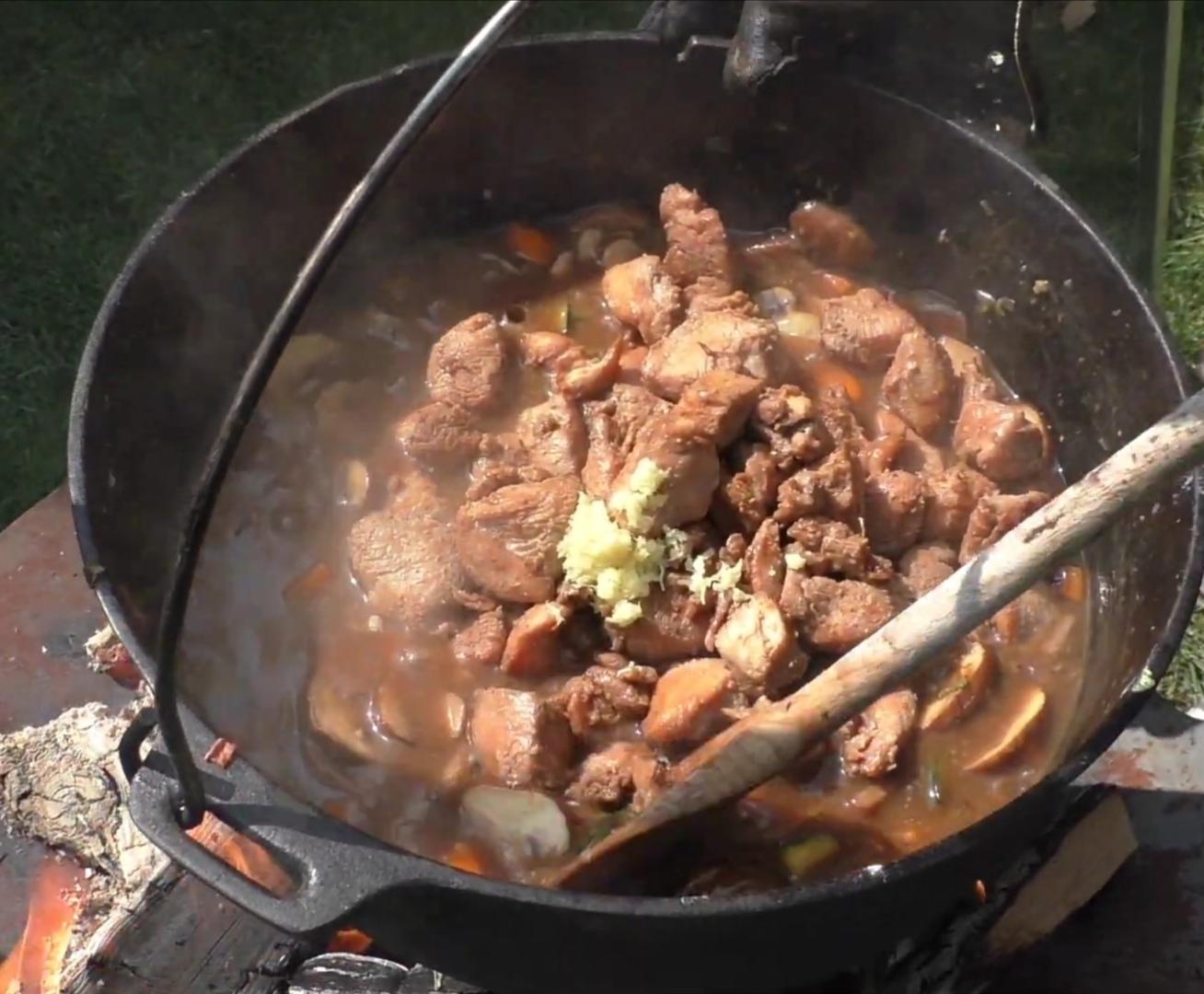 die Sachsengriller Grill Rezept Hähnchenpfanne mit Ingwer