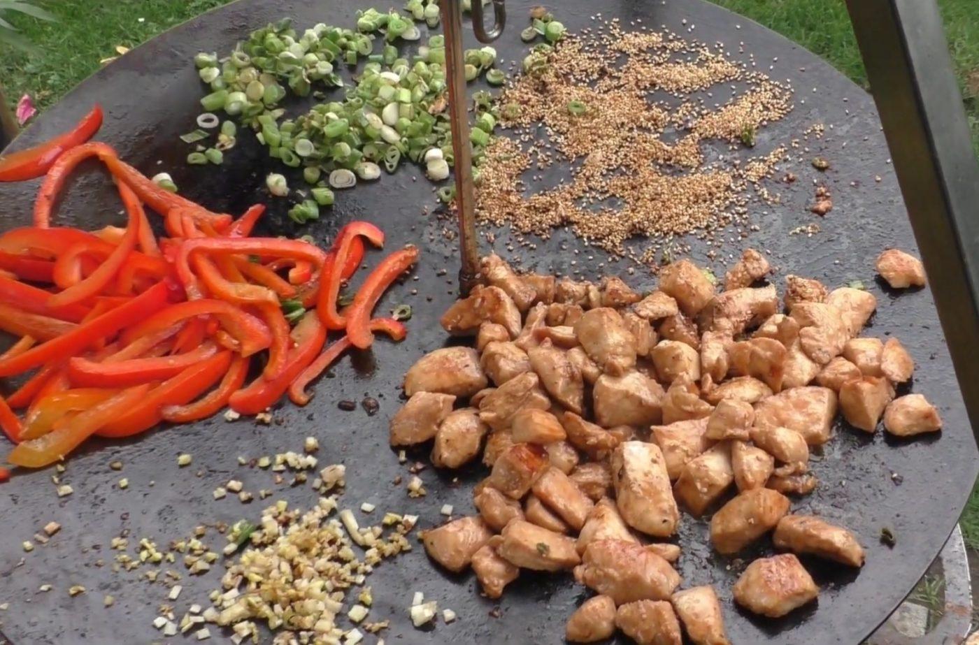 die Sachsengriller Grill Rezept Asiatische Hähnchenpfanne