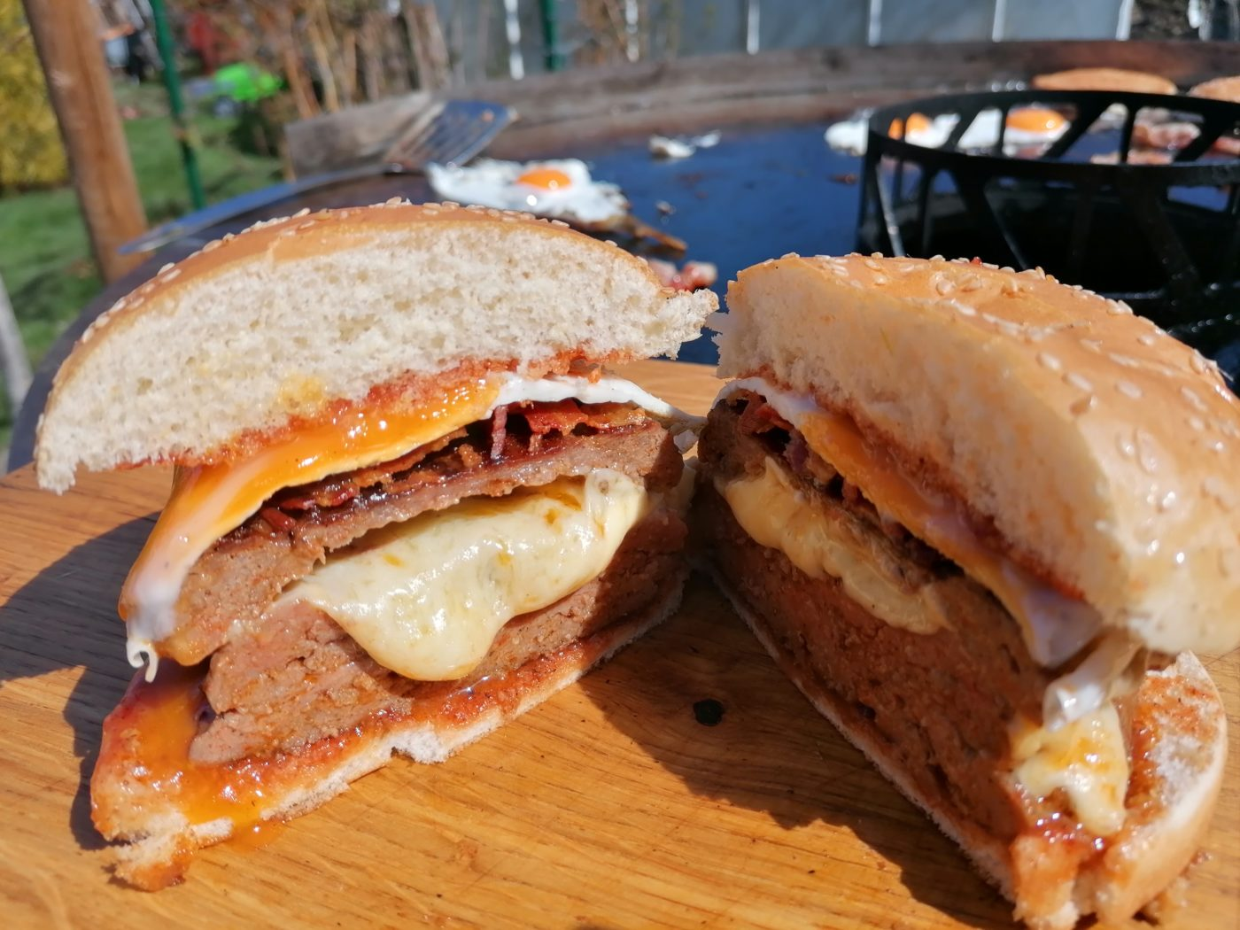 die Sachsengriller Grill Rezept Double Cheeseburger