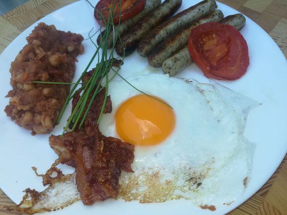 die Sachsengriller Grill Rezept english breakfast