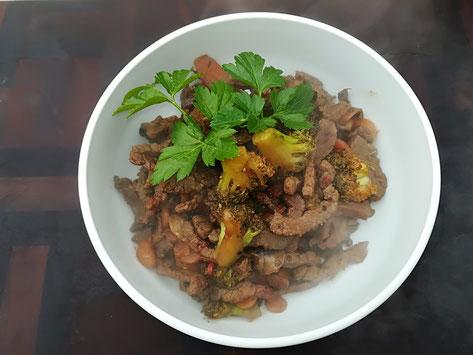 die Sachsengriller Grill Rezept Gemüse-Rindfleisch-Pfanne